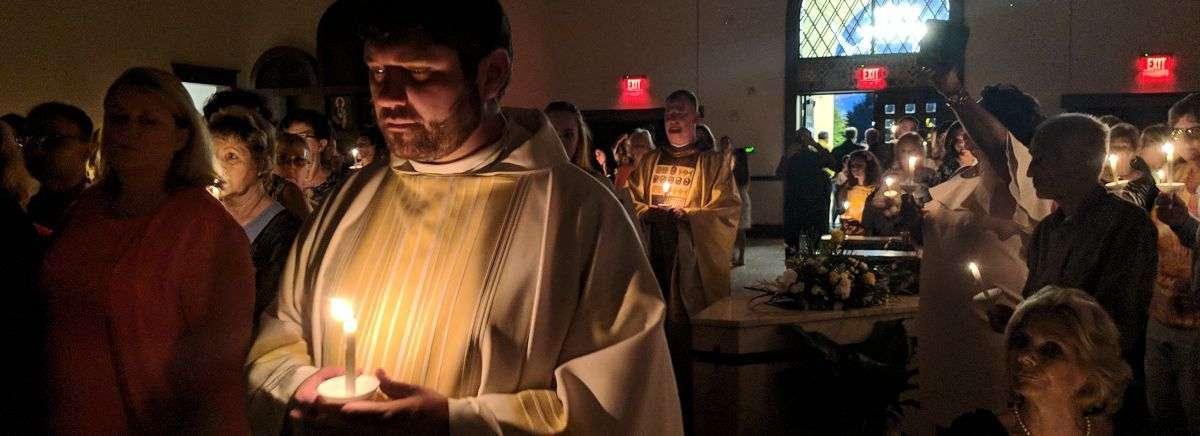 priesthood at Easter Vigil Mass