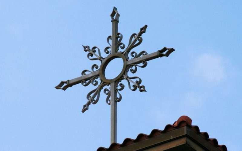 cross atop Catholic church